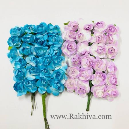 Хартиени розички - клонка, лилаво, 20мм /12бр. (20/12/13)