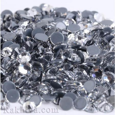 Кристали за нокти Hot Fix за декорация на дрехи, за нокти, 1.6 мм/1440 бр. кристали сребро 1.6/1440/300 SS4