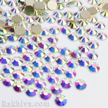 Кристали за нокти Hot Fix за декорация на дрехи, за нокти, седеф - злато, 4 мм/40 бр. кристали хамелион 4/40/ SS16