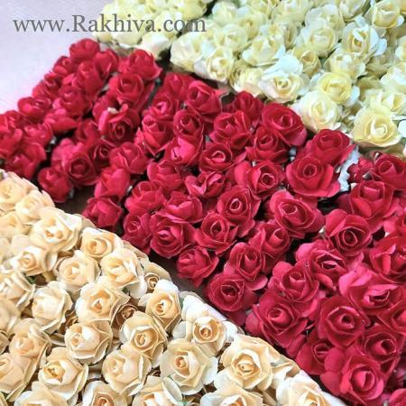 Хартиени розички - клонка, шампанско, червено, карамел, червено, 20мм /12бр. (20/12/80)