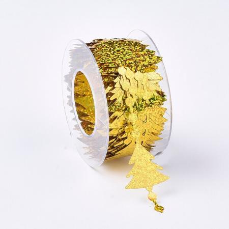 Коледни панделки Златни елхички
