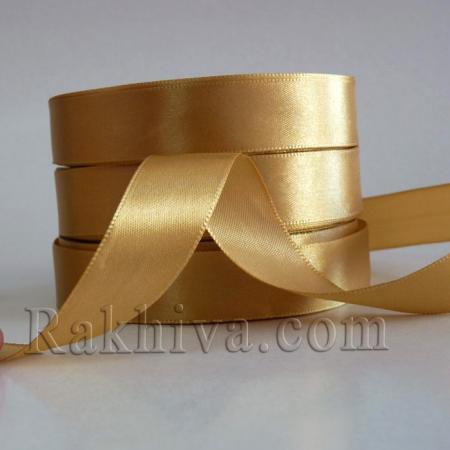 Панделка сатен - злато, 1 ролка 20 мм/25 ярда (20/25/23201-1)