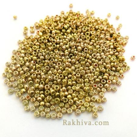 Мъниста цвят злато (метализе), злато (метализе) 2мм/ 25гр.