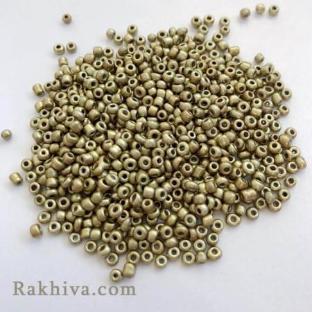 Мъниста цвят злато, злато 50гр. (SDB22)