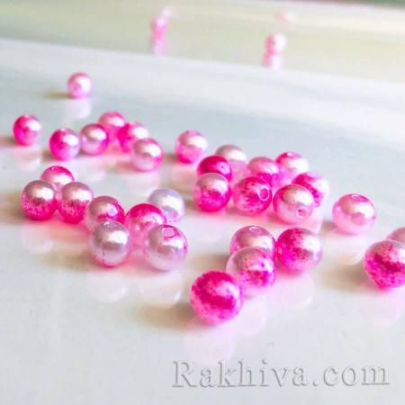 Перли МИКС розово преливащо, перли розово преливащо 8мм/ 20г