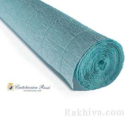 Крепирана хартия (Италия Cartotecnica rossi) 180 гр., 17Е3 (синьо тюркоаз)
