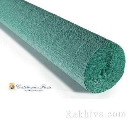 Крепирана хартия (Италия Cartotecnica rossi) 180 гр., 17Е4 (зелено тюркоаз)