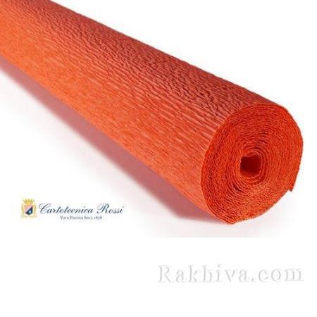 Крепирана хартия (Италия Cartotecnica rossi) 180 гр., 17Е6 (оранжево)