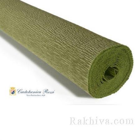 Крепирана хартия (Италия Cartotecnica rossi) 180 гр., 20/562 (войнишко зелено)