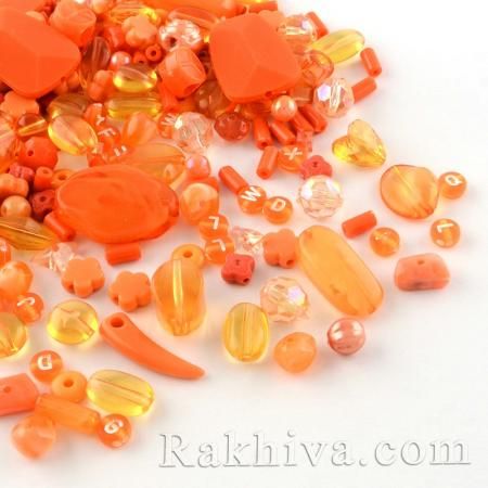 Микс елементи за бижута, оранжево