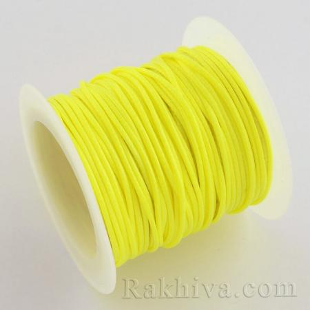 Восъчен шнур, жълто, 1 мм жълто (YC-R004-1.0mm-06)