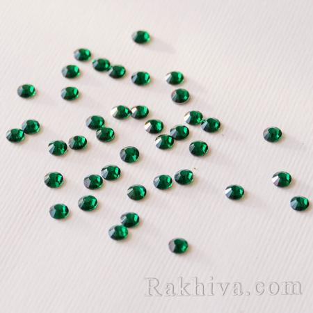 Кристали за нокти Hot Fix за декорация на дрехи, за нокти, 1.6 мм/1440 бр. кристали зелено 1.6/1440/6 SS4