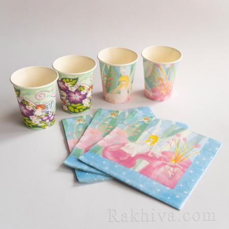 Парти комплект Принцеси - чашки, салфетки, чашки за парти принцеси 8 бр. (617300)