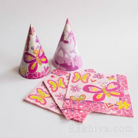 Парти комплект Пеперуди - чашки, салфетки, салфетки пеперуди 16бр. (613502)