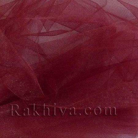 Кристален тюл на топ тъмно червено, тъмно червено (85/81-1) за 50 л.м.
