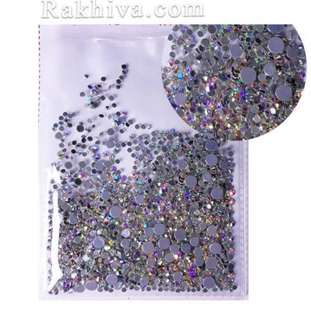 Кристали за нокти Hot Fix за декорация на дрехи, за нокти МИКС - различни размери злато хамелеон, Микс размери (SSMIX/1440/SS3-SS20)
