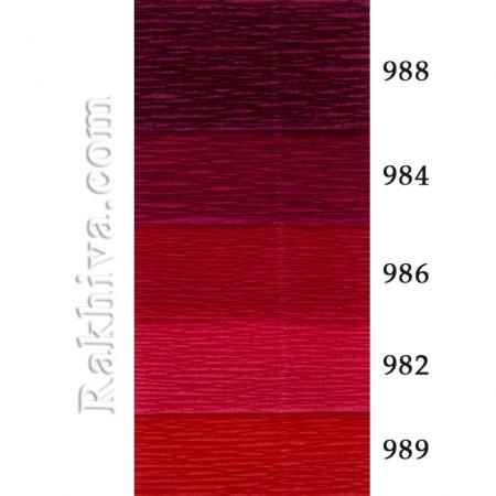 Крепирана хартия (Италия Cartotecnica rossi) НА КАШОН, 982 (доматено червено)