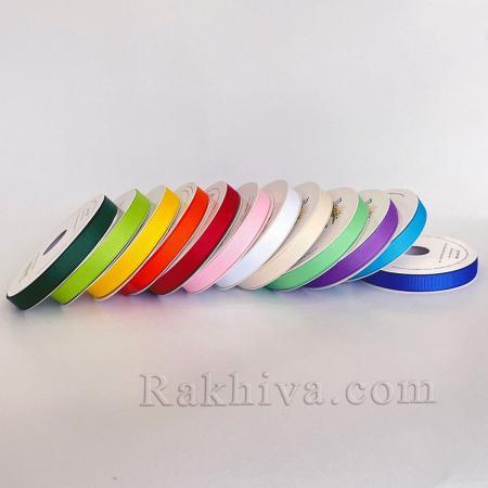 Панделка релефен сатен различни цветове, 10 мм / 10 м (екрю) (10/10/12312)