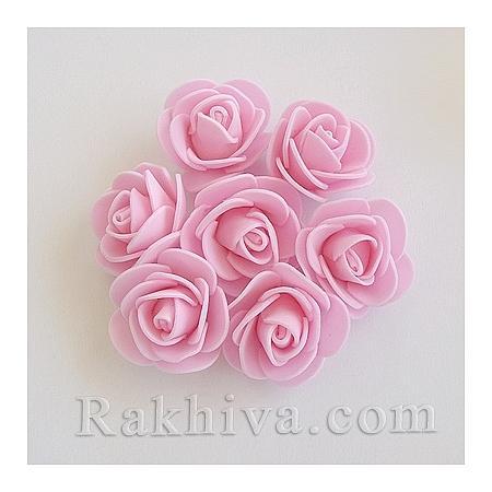 Силиконови розички на едро перлено розово, перлено розово (3,5 см/10 броя) над 50 пакета