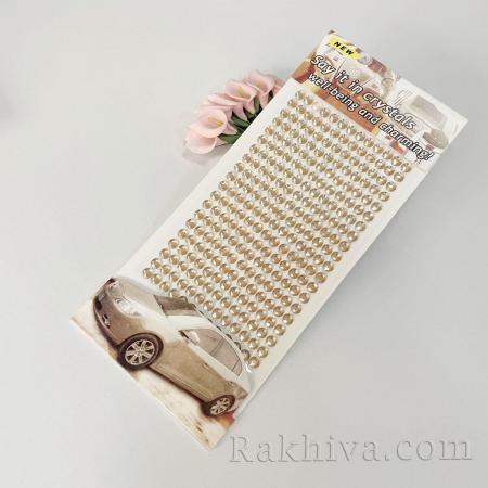 Самозалепващи кристали за декорация пудра, пудра 6мм/260 бр. , (К6/33/260)