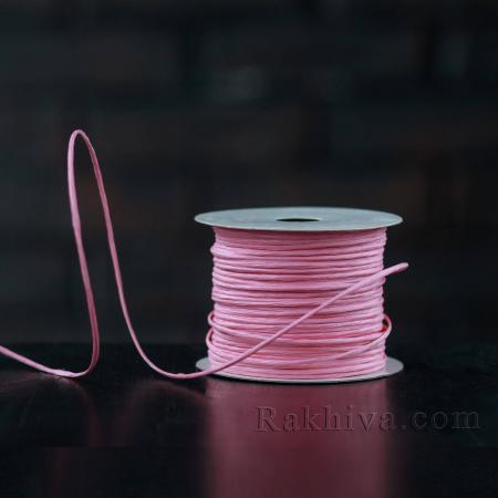 Хартиен шнур с тел, 2/50/6140 розово, 50 м