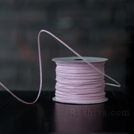Хартиен шнур с тел на кашон, ЕДРО св. розово (2/50/6141) над 24 броя