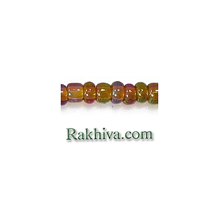 Мъниста за бижута, за декорация, за украса, за дръвчета от мъниста, злато преливащо (50гр.) SDB162C/ A007-2mm-162C