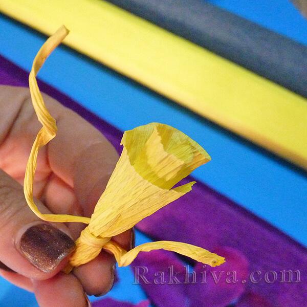 Как се прави цвете от креп хартия-10