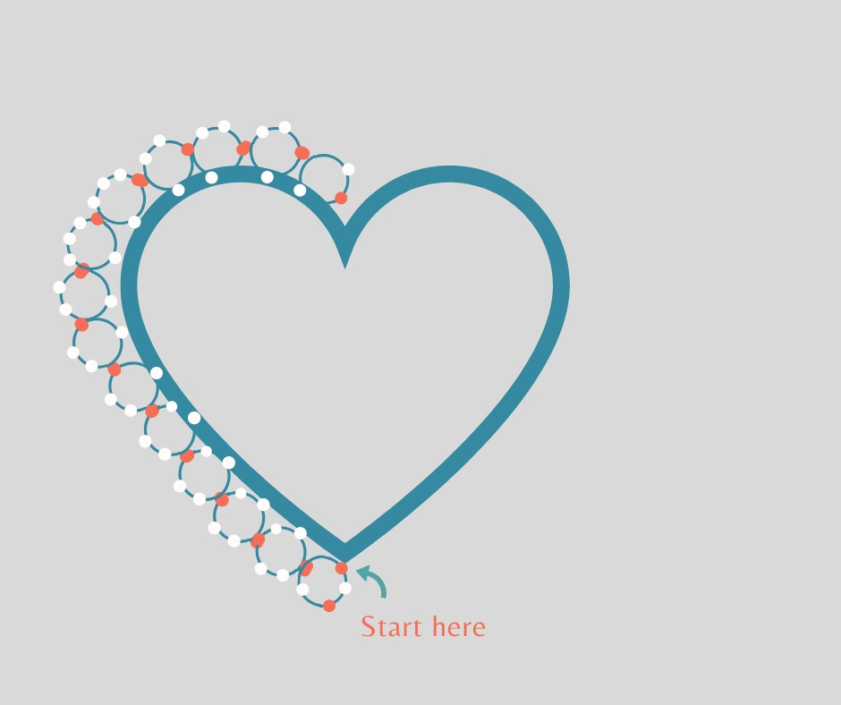 Как се прави бижу - сърце от мъниста