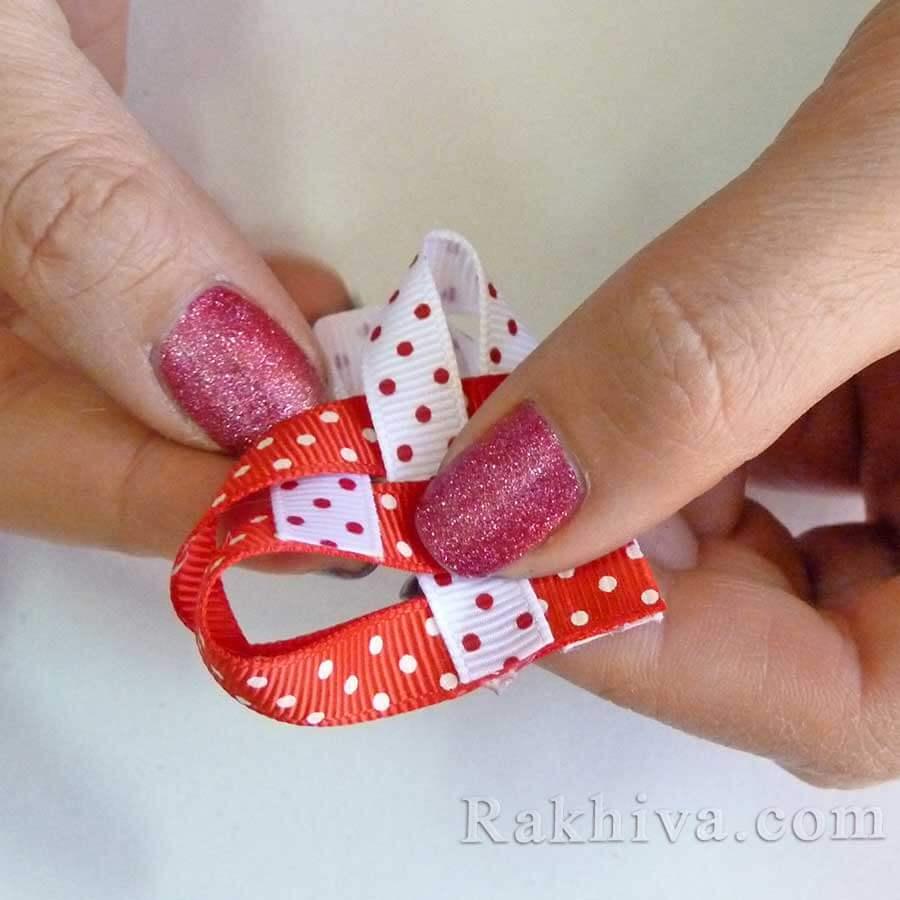Направи си сам: малък подарък-сърце от панделка релефен сатен