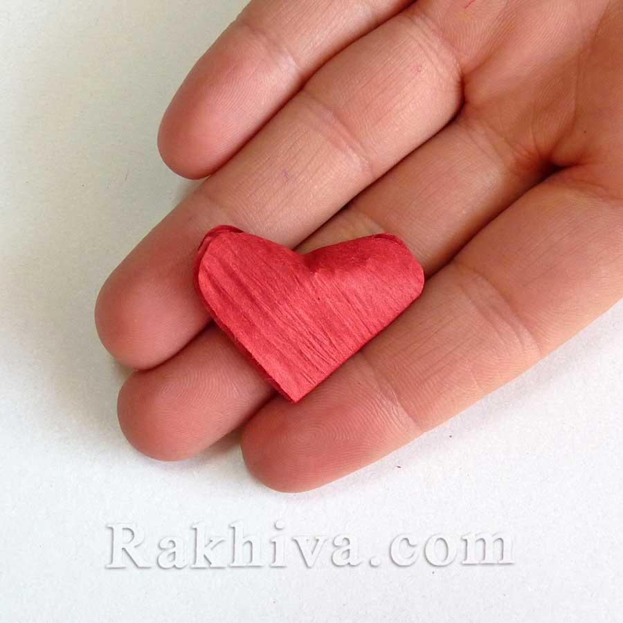 От нищо нещо - как се прави сърце от панделка хартия