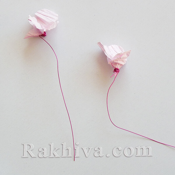 Как се прави пролетна украса с цветя от хартия