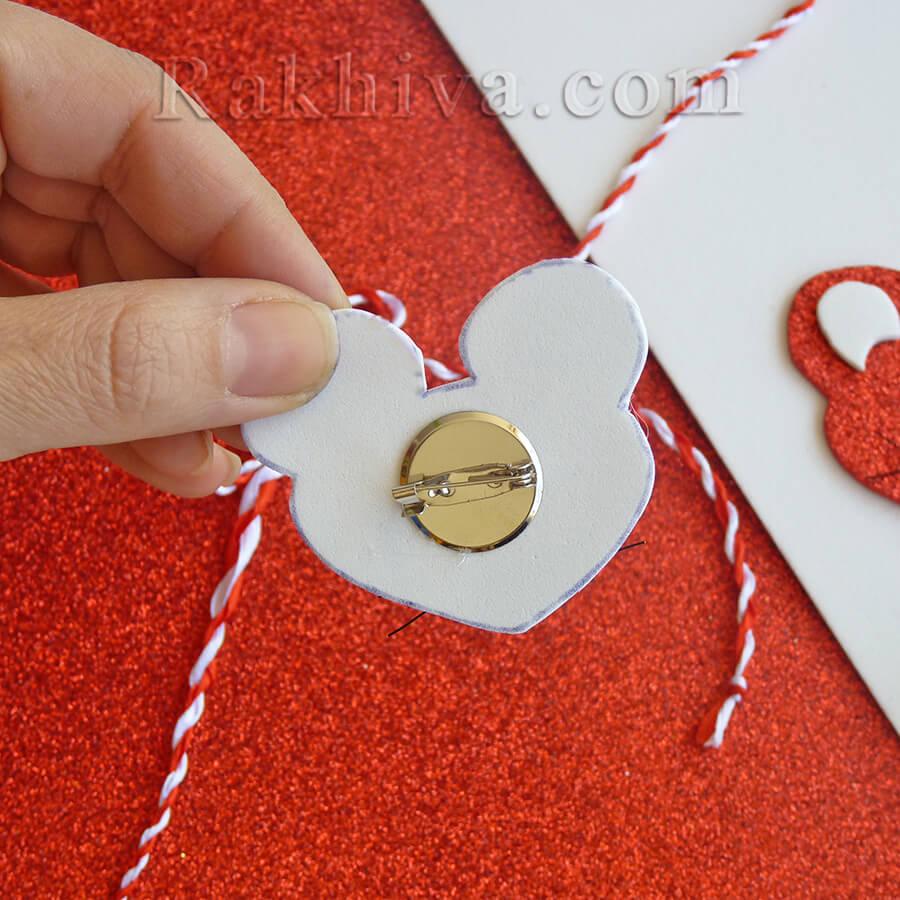 Как се прави мартеница - мишле от фоам гумена хартия