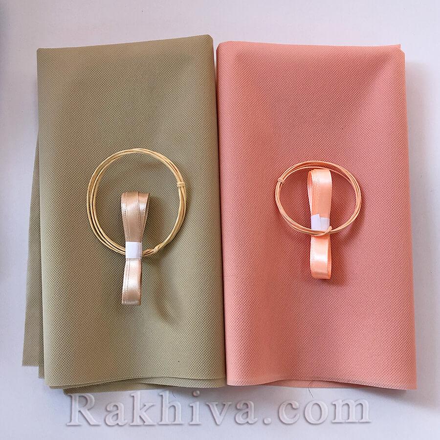 комплект за защитна маска за лице от текстилна хартия, панделка и хартиен шнур с тел