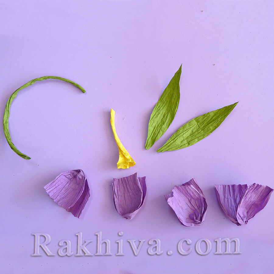Как се правят пролетни цветя от хартия: минзухари от хартиен шнур туист