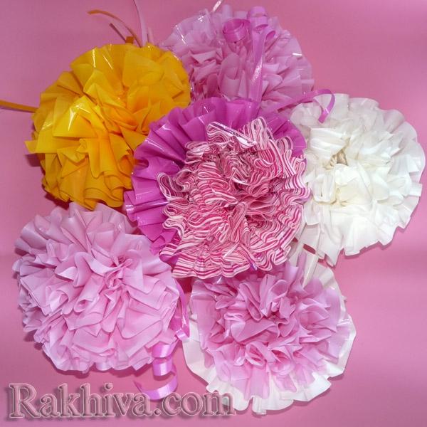 цветя от целофан