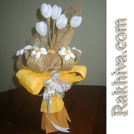 букети от хартиени цветя