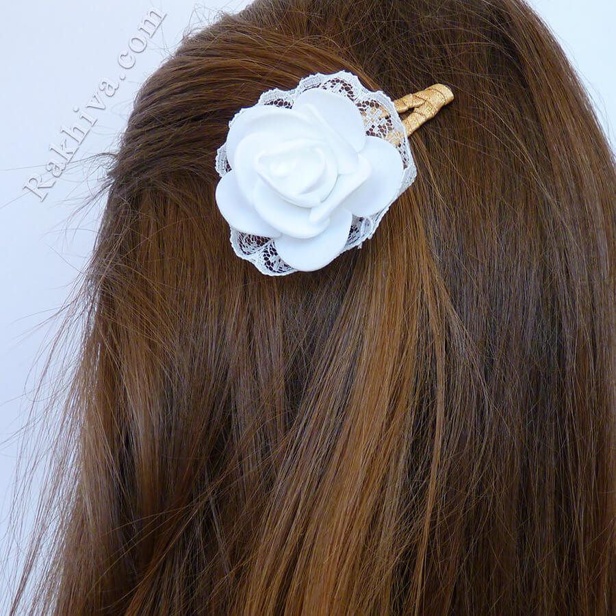 Аксесоари за коса - направи си сам декорация на шнола за коса