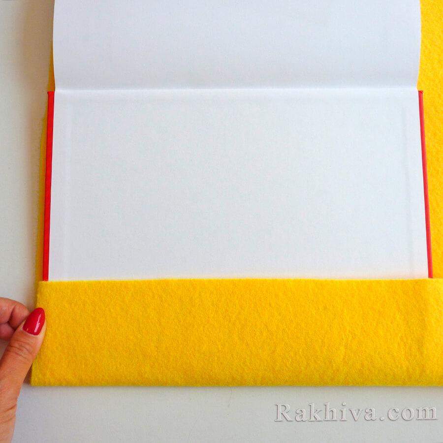 Как се прави калъф за книга от филц