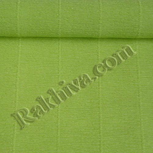 Едноцветна крепирана хартия: зелена крепирана хартия