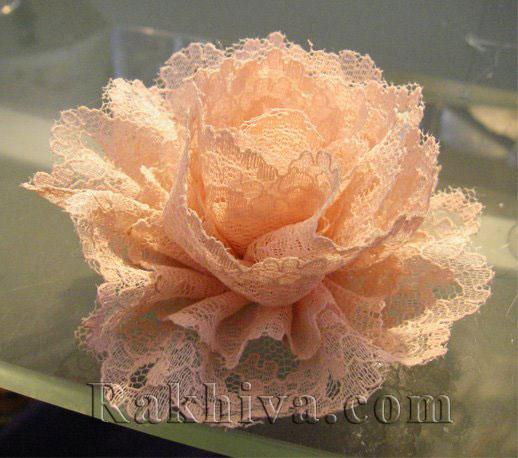 Как се прави винтидж цвете от дантела