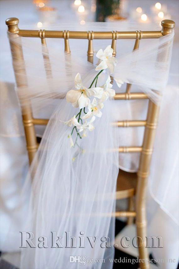 Идеи за сватбена декорация от тюл, сатен и органза